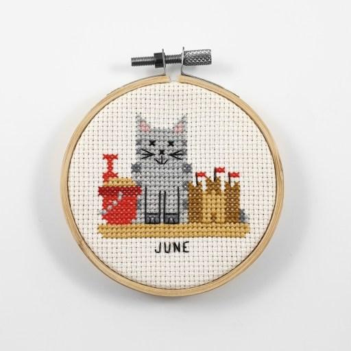 June cross stitch pdf pattern