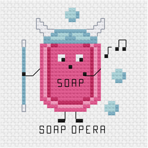 Soap opera cross stitch pdf pattern
