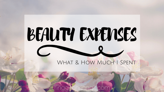 how much I spent on beauty