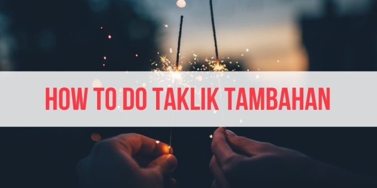 How to Do Taklik Tambahan (for People Who Don't Want Polygamy)