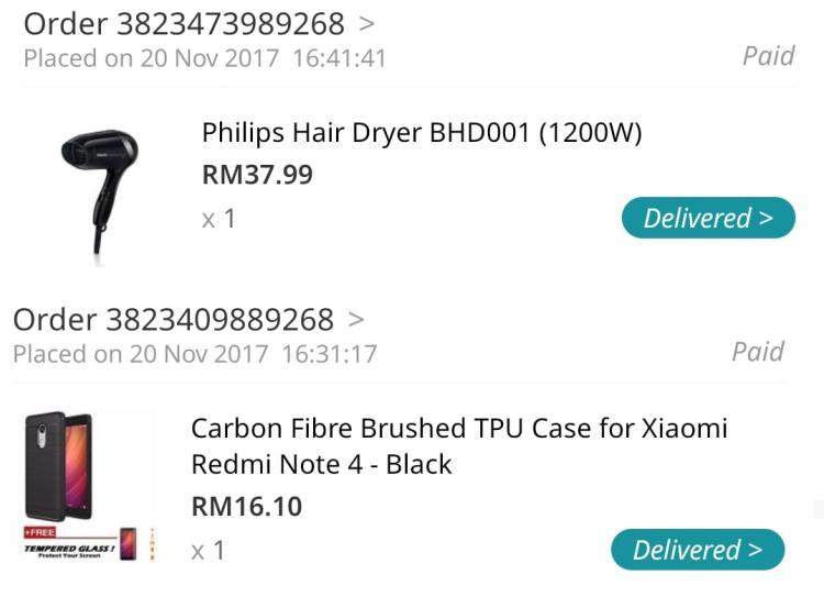 bought from lazada