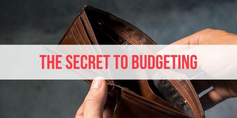 The Secret to Sticking to A Budget