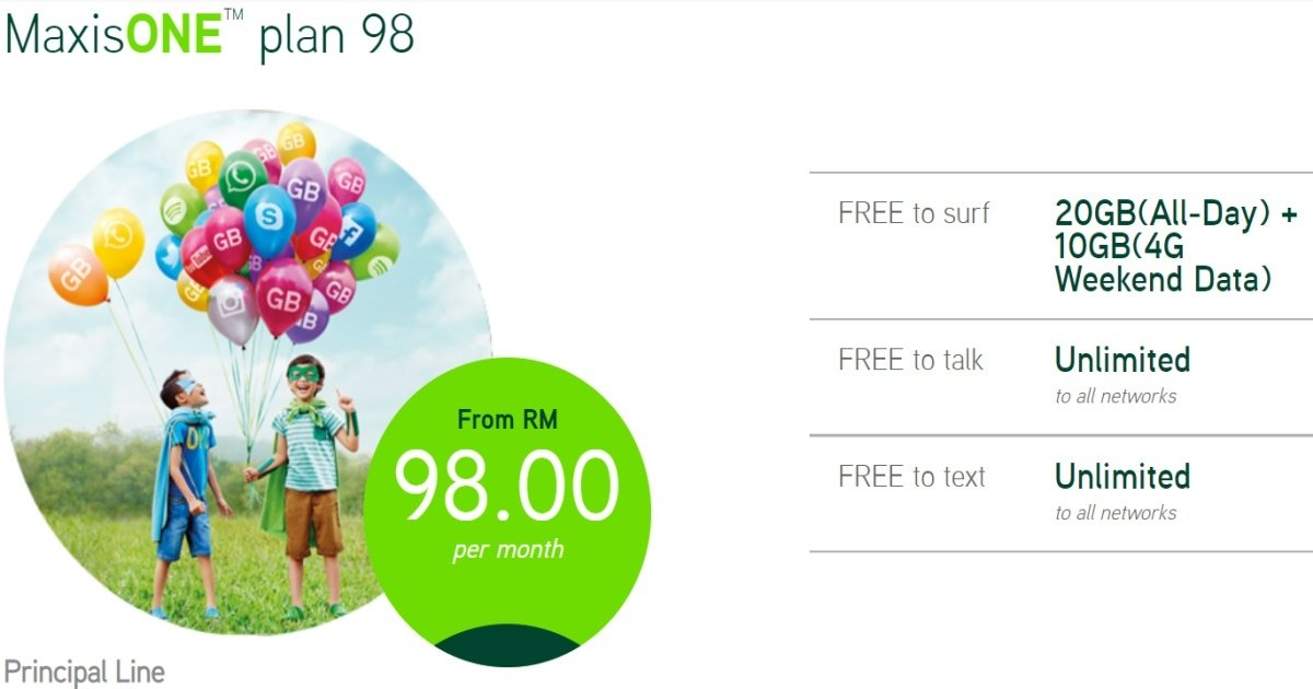 Maxis Tweaks Weekday Data Allocation For Maxisone Plan 98