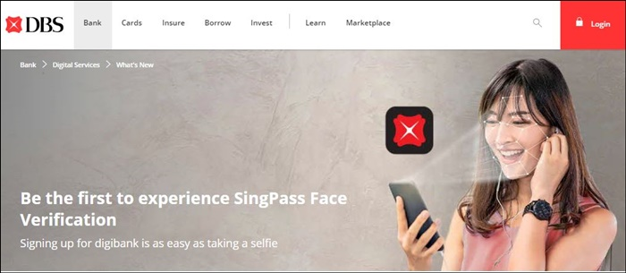 singapore facial recognition dbs