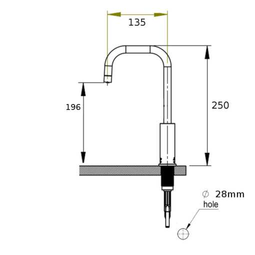 brushed-stainless-steel-instant-water-tap-measurements