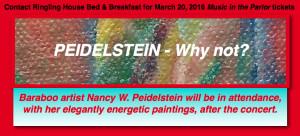 Peidelstein - Why Not_ (with B&B ticket text) ©2016 Nancy W Peidelstein - Ragamuffin Studio® original paintings