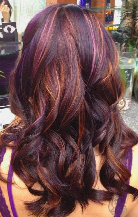 Love these colors. Probably will do my hair like this for winter!:
