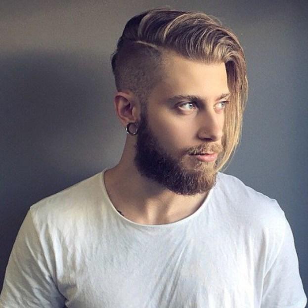 Long Hair Faded undercut For Men