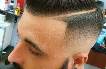 Razor Fade Pompadour For Men