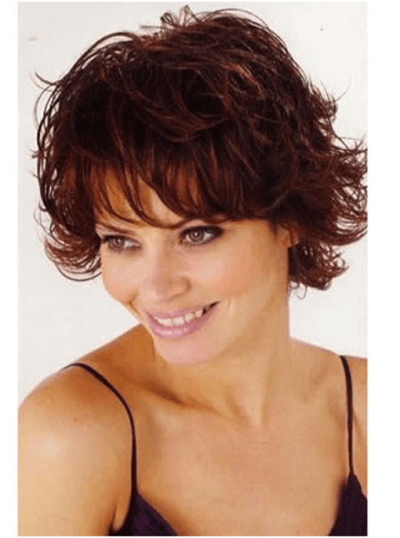 Tousled Short Hair Hairstyle For Women