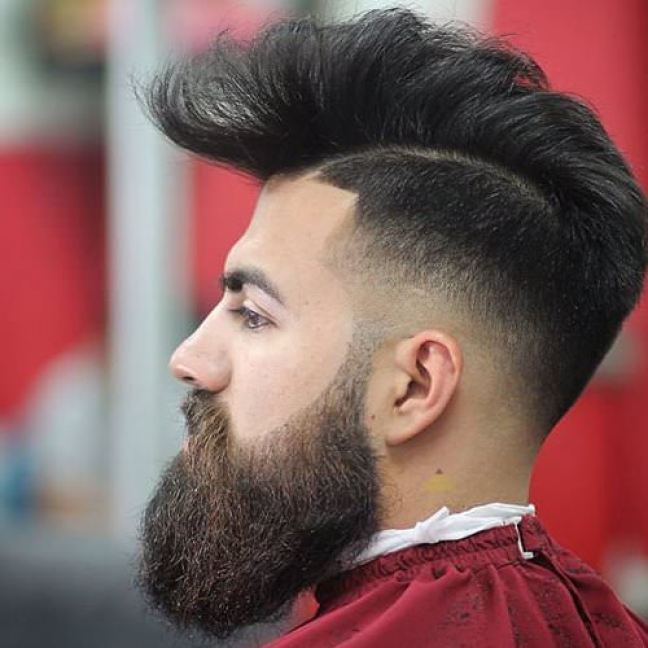 High Fade Long Pomp Hairstyle for Men