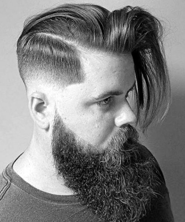 Long and Straight Low Fade