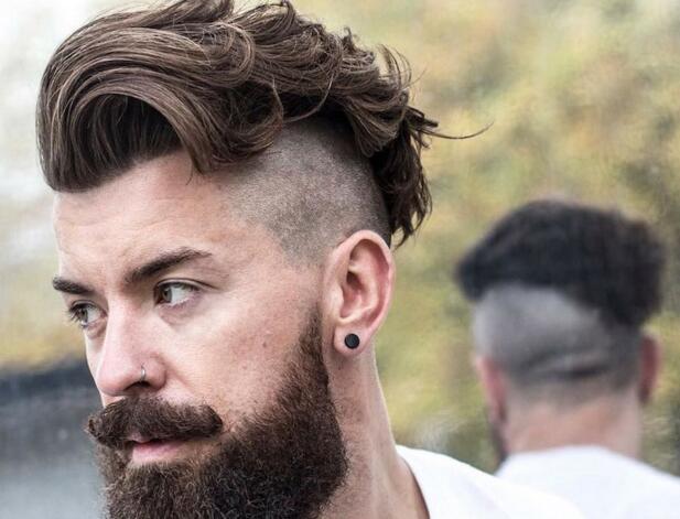 Wavy Undercut Hairstyles Men