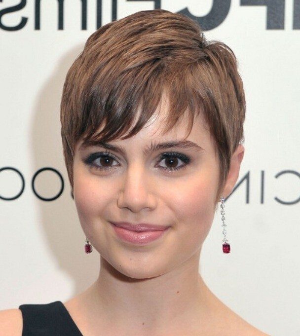 Short and Textured Pixie Thin Hair