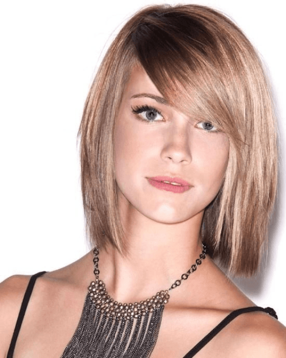 Side Swept Bangs Hairstyle for Thin Hair