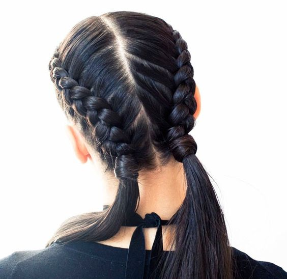Pigtails with Thin Braids