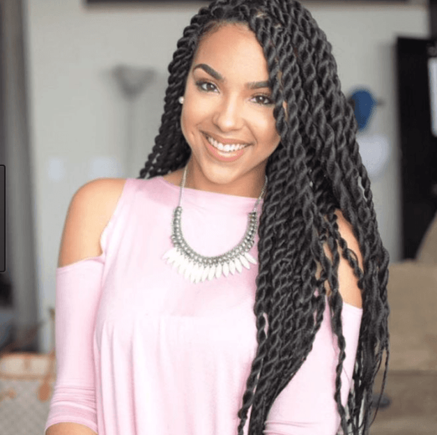 Black Braids with Long Twists