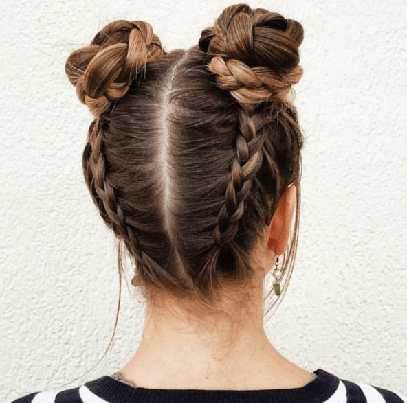 Buns with Braids