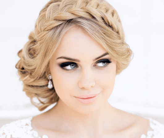 Crown Braid Hairstyle for Round Faces