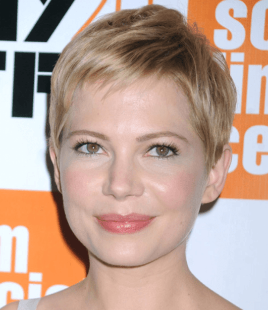 Fine Pixie Hairstyle for Round Faces
