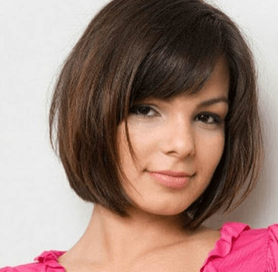 Simple Bob Hairstyle for Round Faces