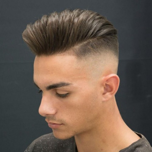 Bald Fade with Pomp