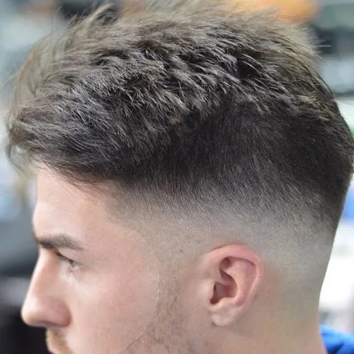 Bald Taper Fade with Textured Top
