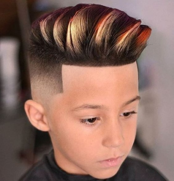 Colour Short Sides with Long Top Haircut
