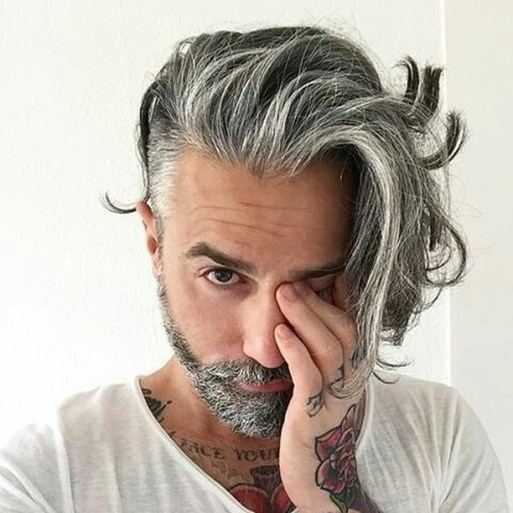 Long Hair on Top with Shorter Sides