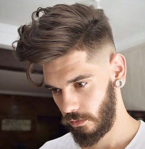 Razor Fade with Long Hair on Top
