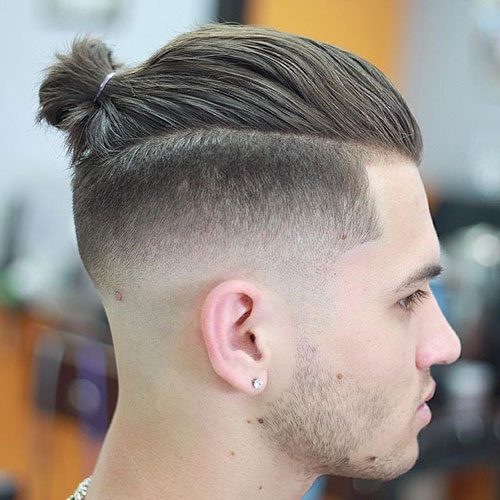 Shaved Sides with Top Buns