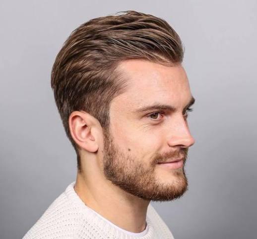 Short Sides with brushed back front