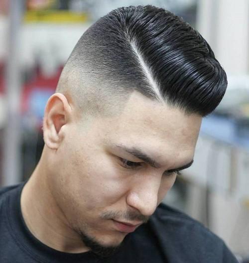 Side Part High Fade Ivy league Haircut