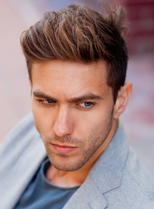 brushed up hair with classic taper Hipster Haircut