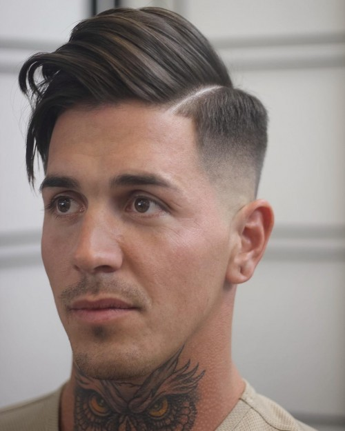 comb over side part medium Hipster Haircut