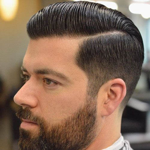 comb over taper with beard Hipster Haircut