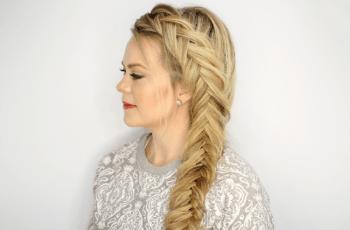 Fishtail Braid on Long Brown Hair