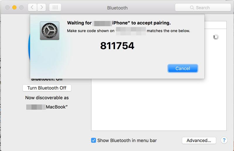 MacBook テザリング 8