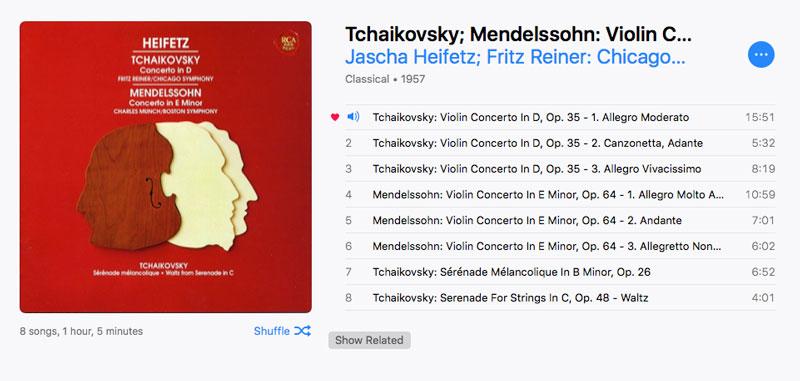 チャイコフスキー ヴァイオリン協奏曲