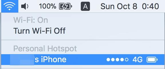 IOS 11でiPhoneをWi Fiルーター テザリング として使う方法 3