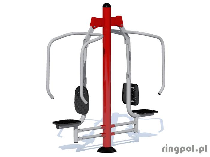 Siłownia fitness - fitpark krzesełko do wyciskania ZPJ-3 2 stanowiska