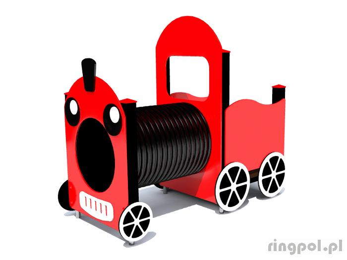 tematyczny plac zabaw lokomotywa z tubą [z151] -Tematyczne place zabaw