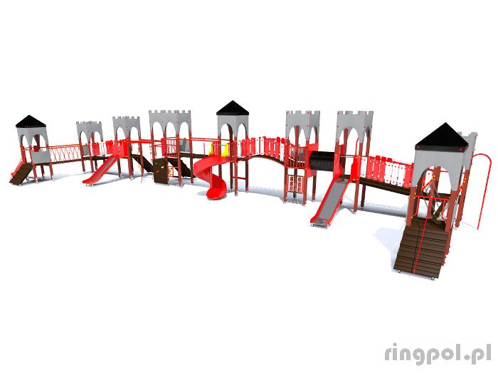 plac zabaw Zamek [z154] -Tematyczne place zabaw