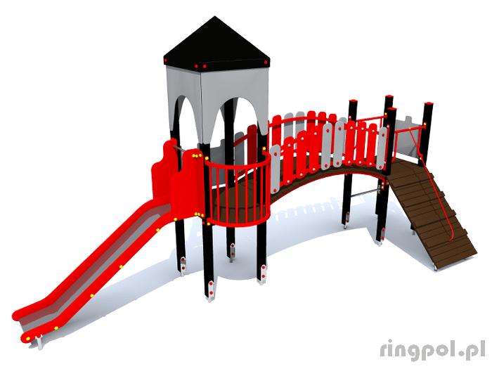 plac zabaw Zamek Irys [z154e] -Tematyczne place zabaw