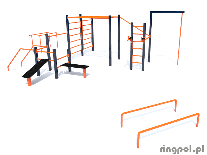 Zestaw workout Krzemień W010 - parkour, urządzenie do kalisteniki
