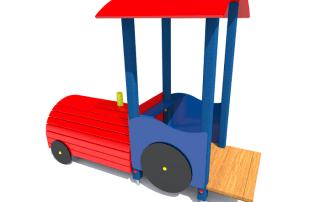 tematyczny plac zabaw lokomotywa z061 -Tematyczne place zabaw