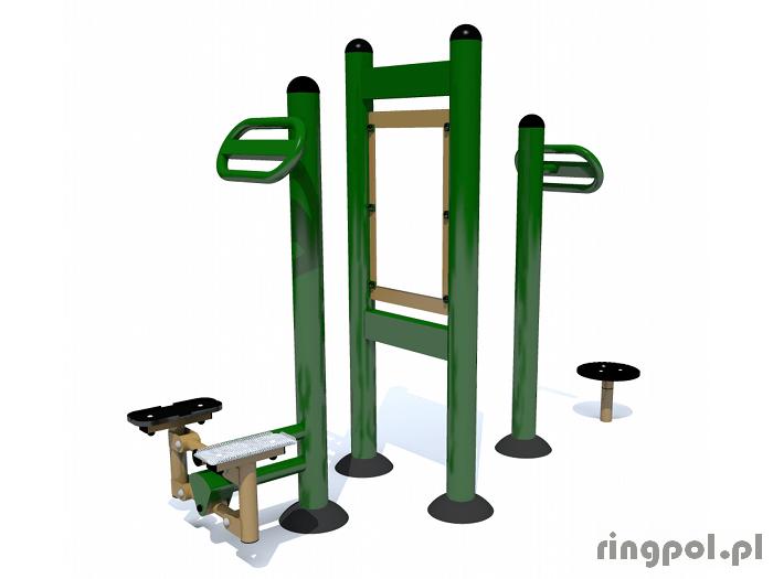 Siłownia plenerowa Twister ze stepperem i pylonem PW-ZPJ-21z23