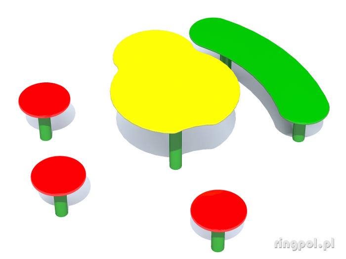 Stoliki z ławeczkami STE-20