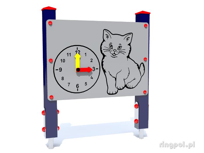 Ścianka edukacyjna zegar kotek STE-27c