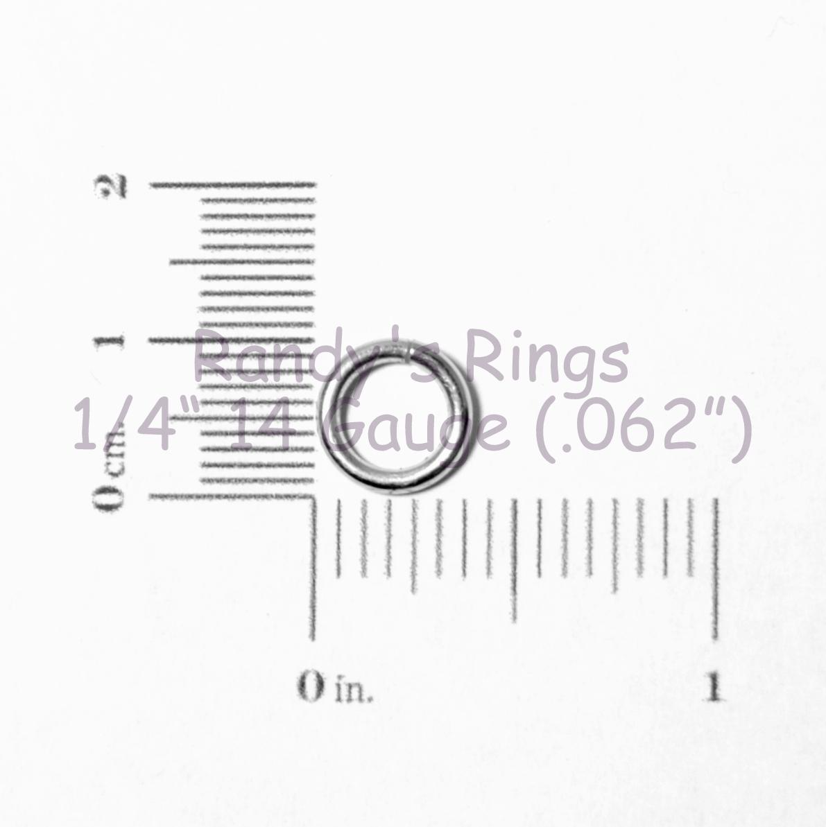 Randy S Rings Gt 1 4 14 Gauge 062 Turquoise Jump Rings